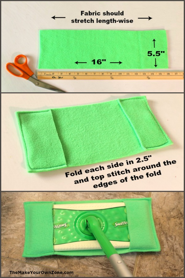 How to sew a homemade reusable swiffer cover