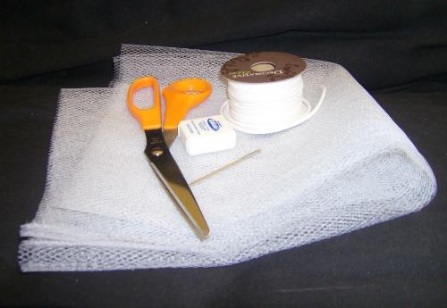 homemade nylon net scrubbie