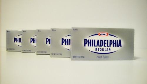 packages of cream cheese