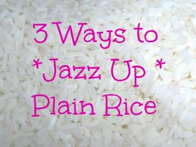 homemade rice recipe