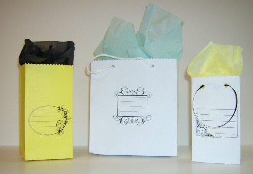 gift bags from envelopes