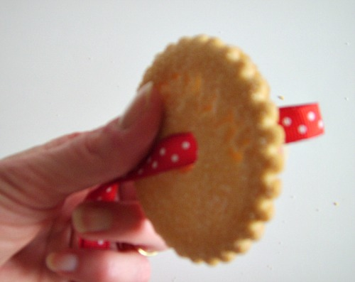 Homemade Christmas Ornament from Voortman Cookie