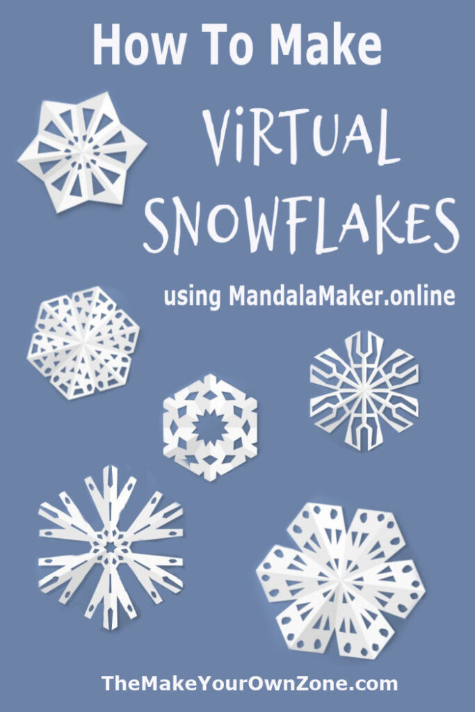 How to make a virtual online snowflake