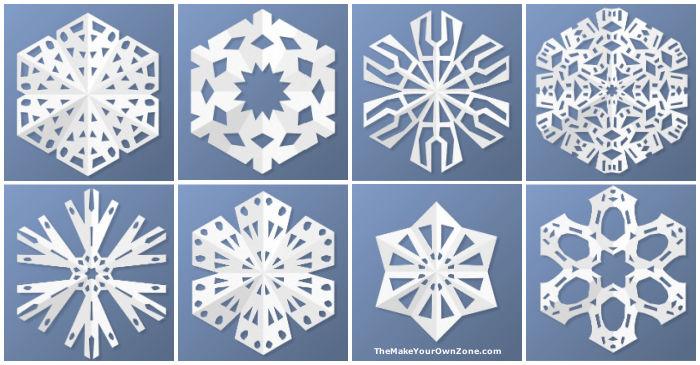 How to make virtual snowflakes online