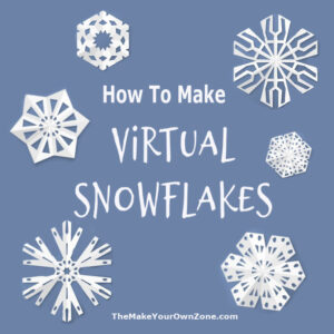 How to make your own virtual snowflakes
