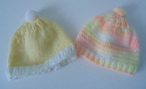 vintage knit baby hats