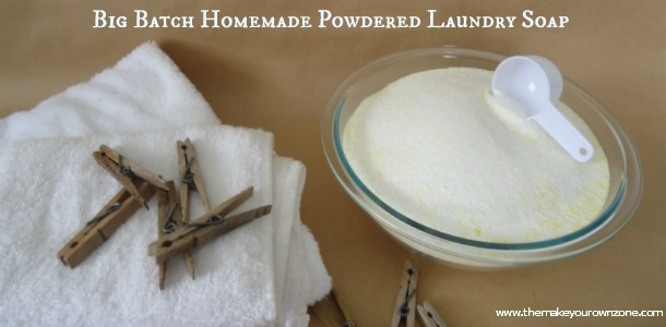 homemade powdered laundry soap