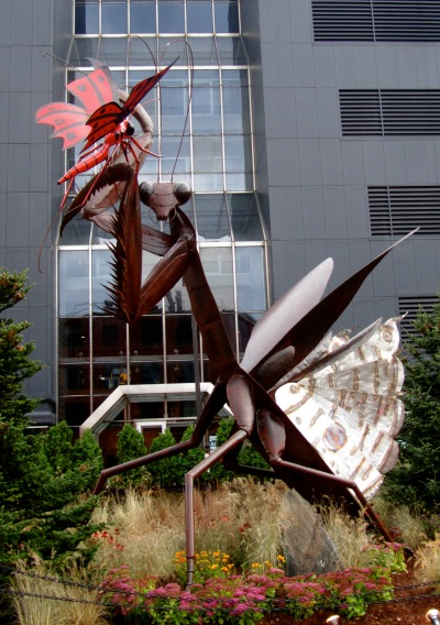 Artprize 2011 praying mantis sculpture