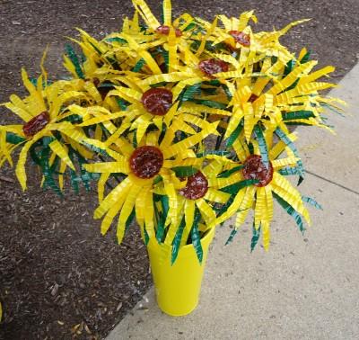 Artprize 2011 Sunflowers from water bottles