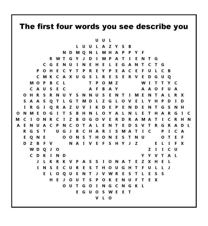 The first four words describe you
