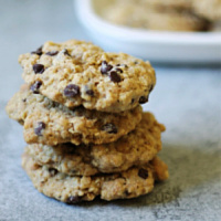 Butterscotch & Chocolate Chip Oatmeal Cookies