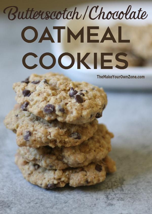 These butterscotch and chocolate chip oatmeal cookies are a dependable and delicious cookie for all occasions. Both kids and adults love them!