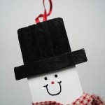 Easy Christmas Ornament - Paint Stirrer Snowman