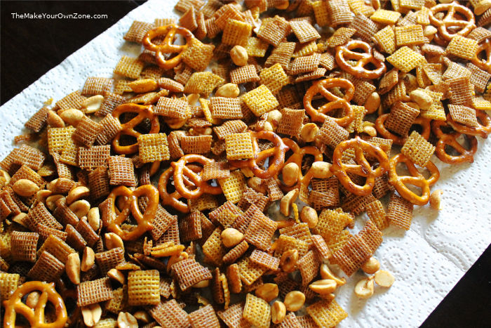 homemade chex nibble mix