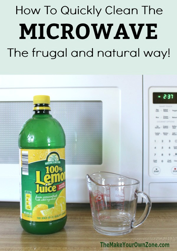 How to clean your microwave the easy way. This homemade solution is frugal and works great!