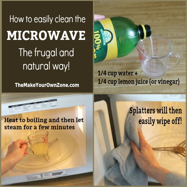 How to clean the inside of your microwave using cheap homemade ingredients.