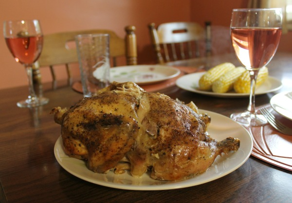 Make your own rotisserie chicken in the crockpot