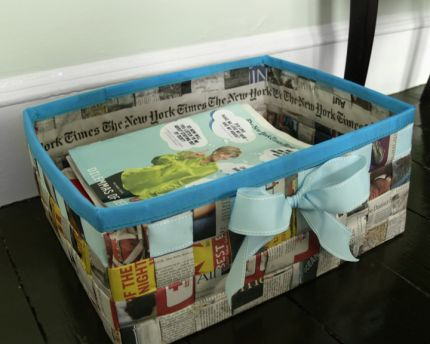 Saturday Link List - Getting Crafty With Newspapers