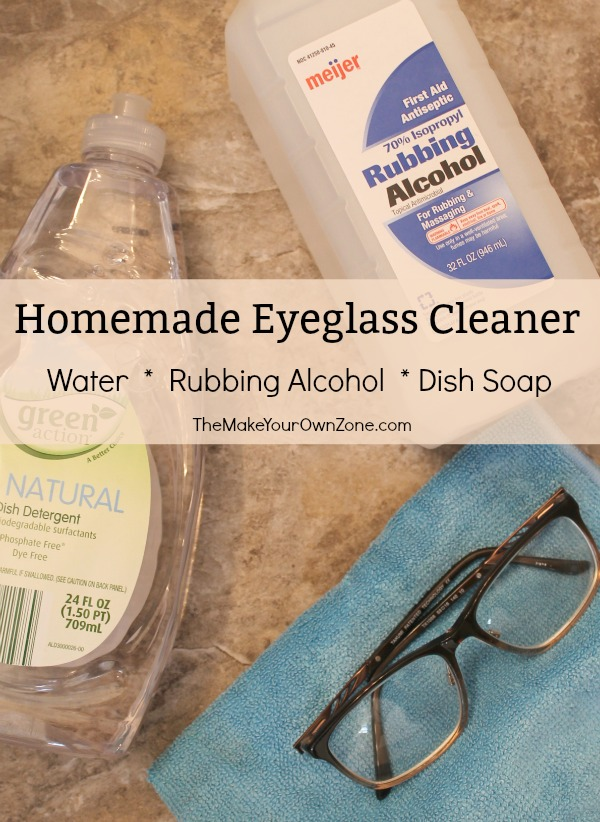 Homemade Eyeglass Cleaner is simple to make and saves money too!