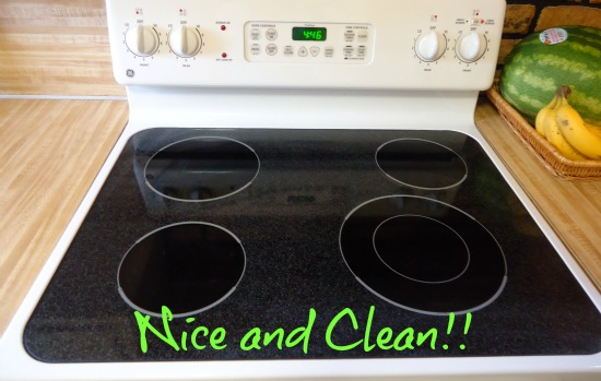 can you use easy off on glass stove top
