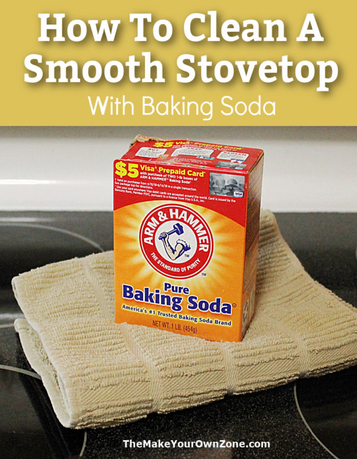 box of baking soda on a smooth stove top