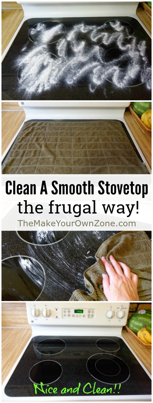 How to clean a smooth stovetop - A simple homemade cleaner that's frugal and works great too!