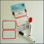 Bright Idea:  Dry Erase Labels from Martha Stewart