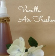 homemade vanilla air freshener spray