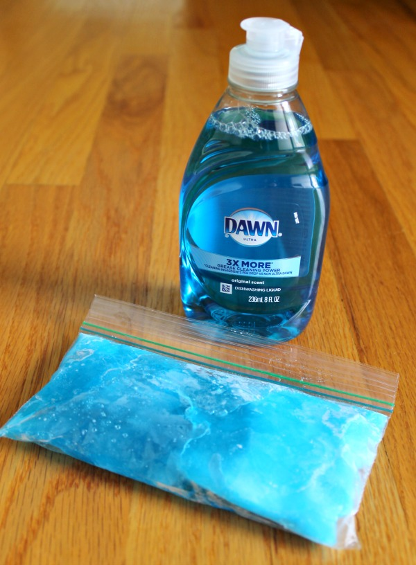 How to make a homemade ice pack using dish soap