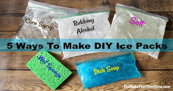 Make your own ice packs with these cheap and easy method using items you probably already have in your cupboard!