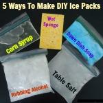 5 Ways to Make Homemade Ice Packs