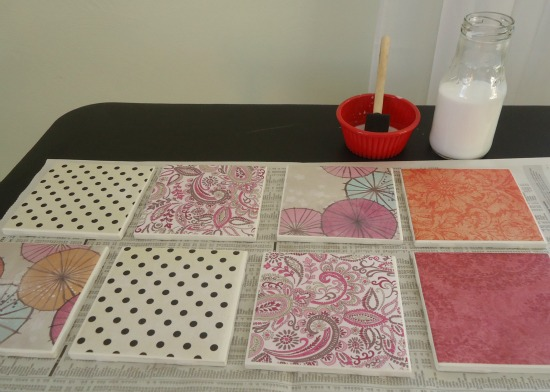 Diy Tile Coasters A Great Way To Use Homemade Mod Podge