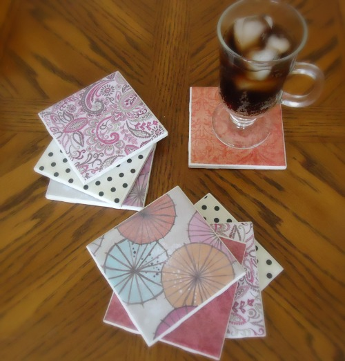 DIY tile coasters