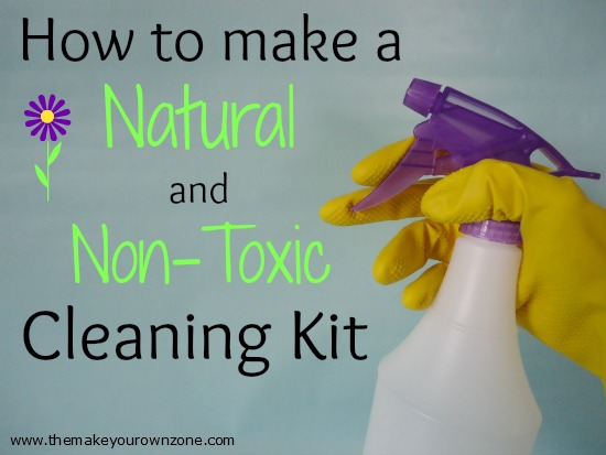 homemade cleaning kit - natural and non-toxic