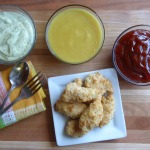 homemade chicken nuggets with dipping sauces