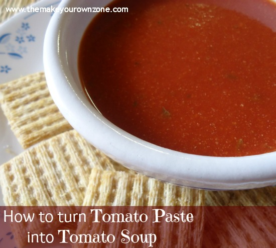 Homemade Tomato Soup from Tomato Paste