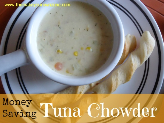 money saving tuna chowder