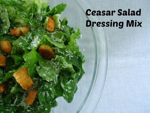 Homemade Ceasar Salad Dressing Mix