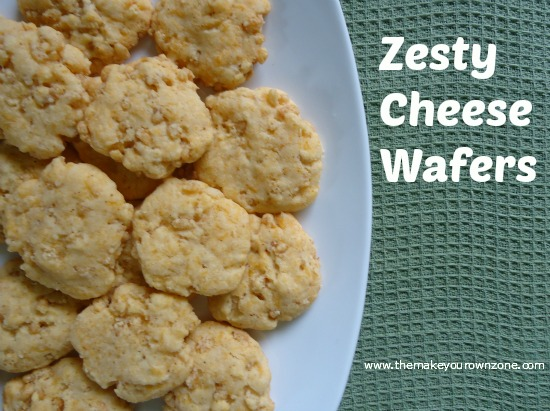 Homemade Zesty Cheese Wafer Snacks