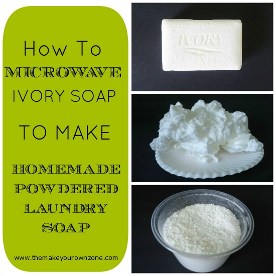 Ivory soap in the microwave for homemade laundry soap