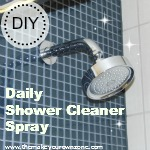 How to make a homemade daily shower cleaner spray
