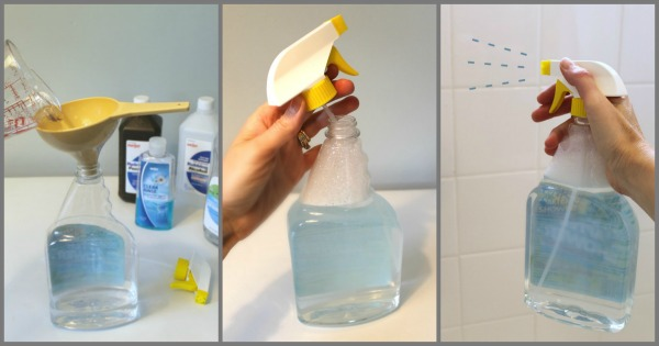 How to make your own homemade daily shower spray