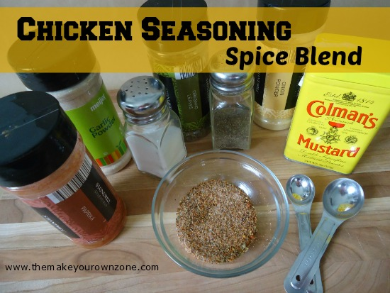 Make Your Own Chicken Seasoning Spice Blend