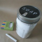 How to make a chalkboard pour spout top for a canning jar - from an old salt container!