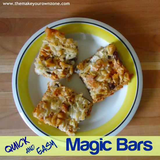Recipe for Homemade Magic Bars