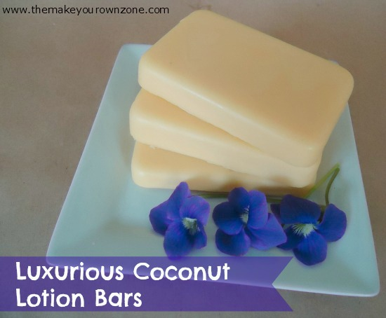 coconut oil lotion bars