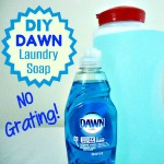 Homemade laundry soap made with Dawn