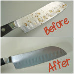 how to remove rusty spots on a knife