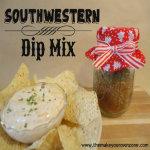 Homemade Gift - Southwestern Dip Mix