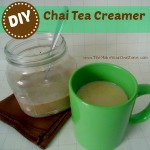 Make your own chai tea creamer